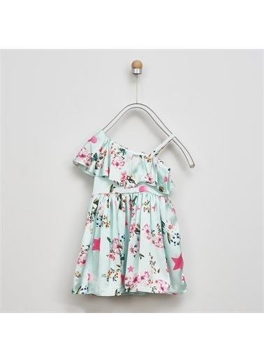 Panço Kız Çocuk Elbise 2011GK26040 Yeşil